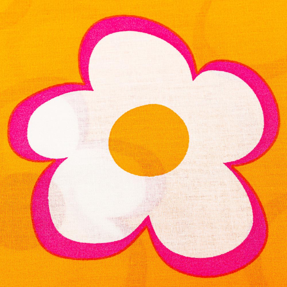 Juego sábanas para cama 90 cm Agatha flores - naranja