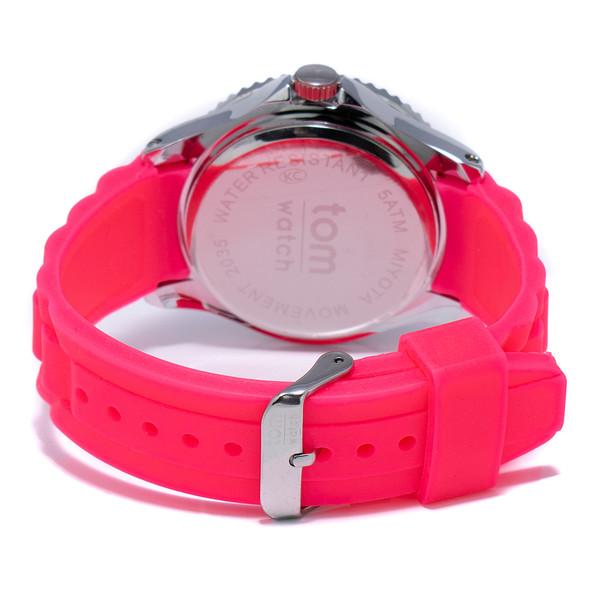 Reloj analógico caucho unisex - rosa