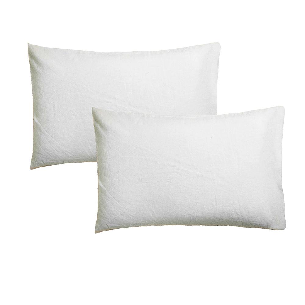 2 Fundas de almohada - blanco
