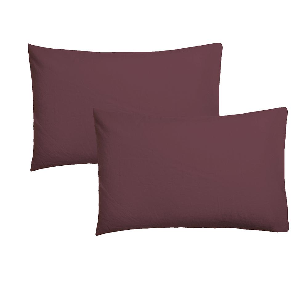 2 Fundas de almohada - granate