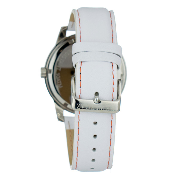 Reloj analogico piel hombre - blanco