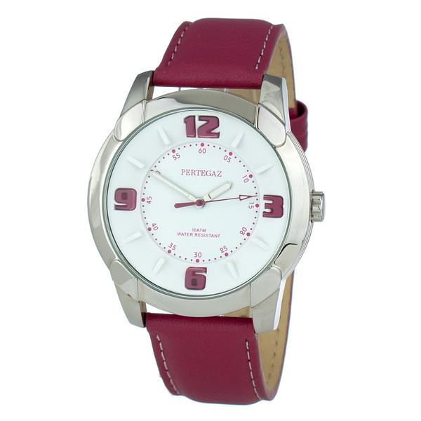 Reloj analogico piel hombre - morado