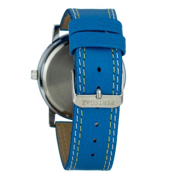 Reloj analogico piel hombre - azul