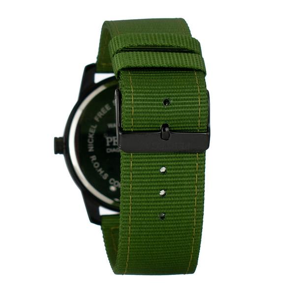 Reloj analogico nylon hombre - verde