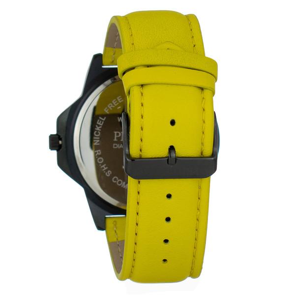 Reloj analogico piel hombre - amarillo