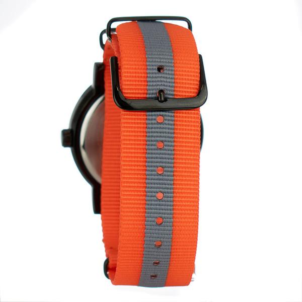 Reloj analógico - naranja/gris