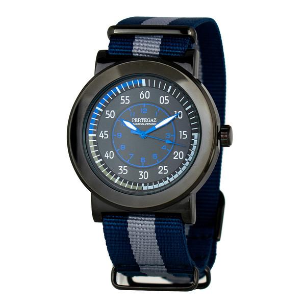 Reloj analógico hombre - azul/gris
