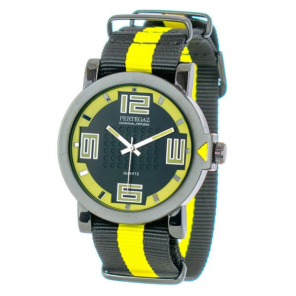 Reloj analógico - negro/amarillo