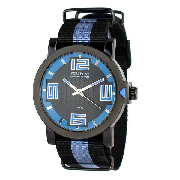 Reloj analógico - negro/azul