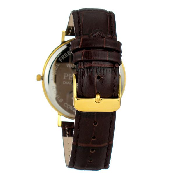 Reloj analogico piel hombre - marron