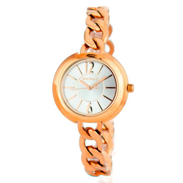 Reloj analógico acero mujer - rosa