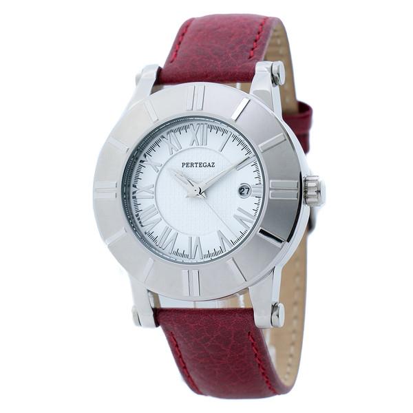 Reloj analógico piel mujer - burdeos