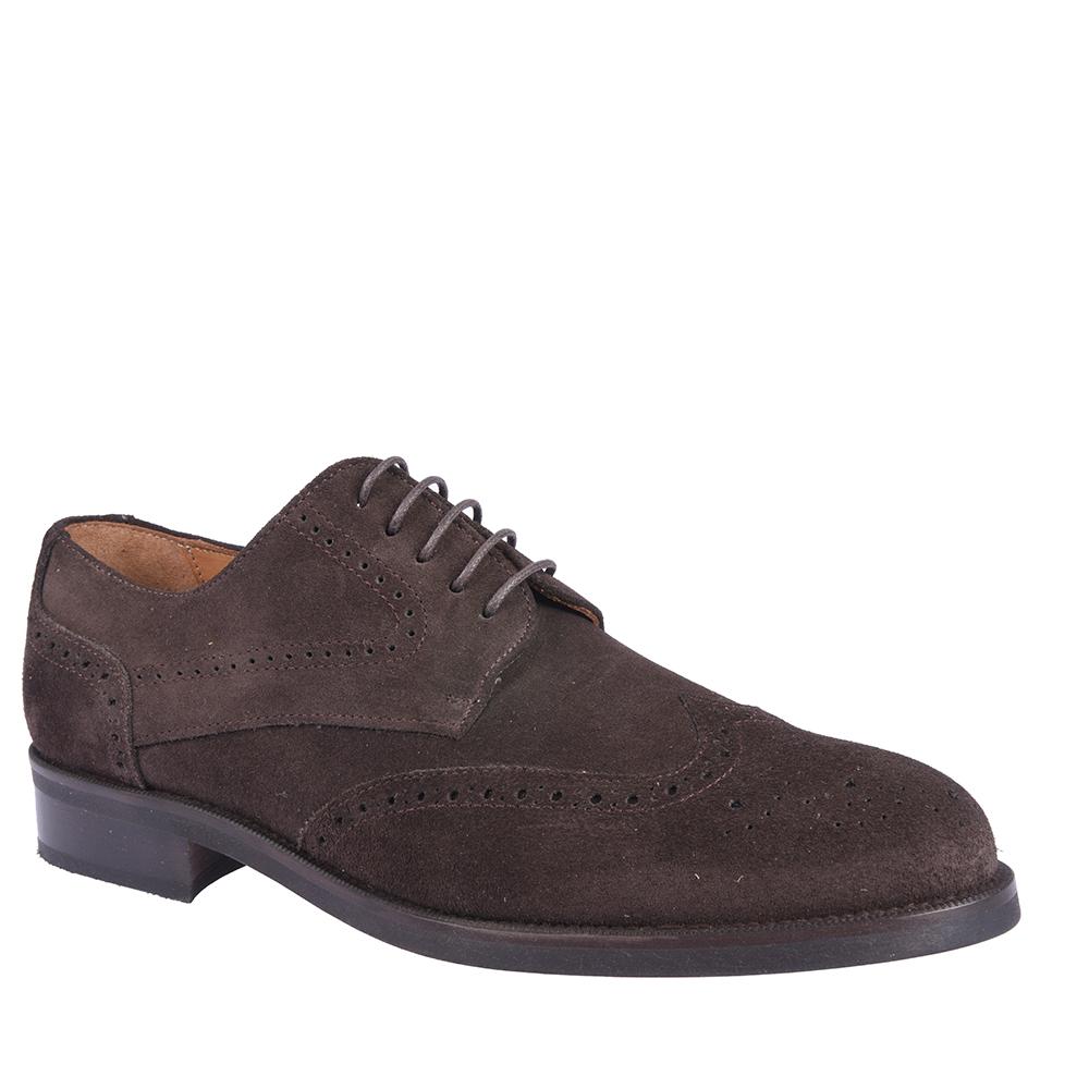 Zapato derby piel hombre - marrón