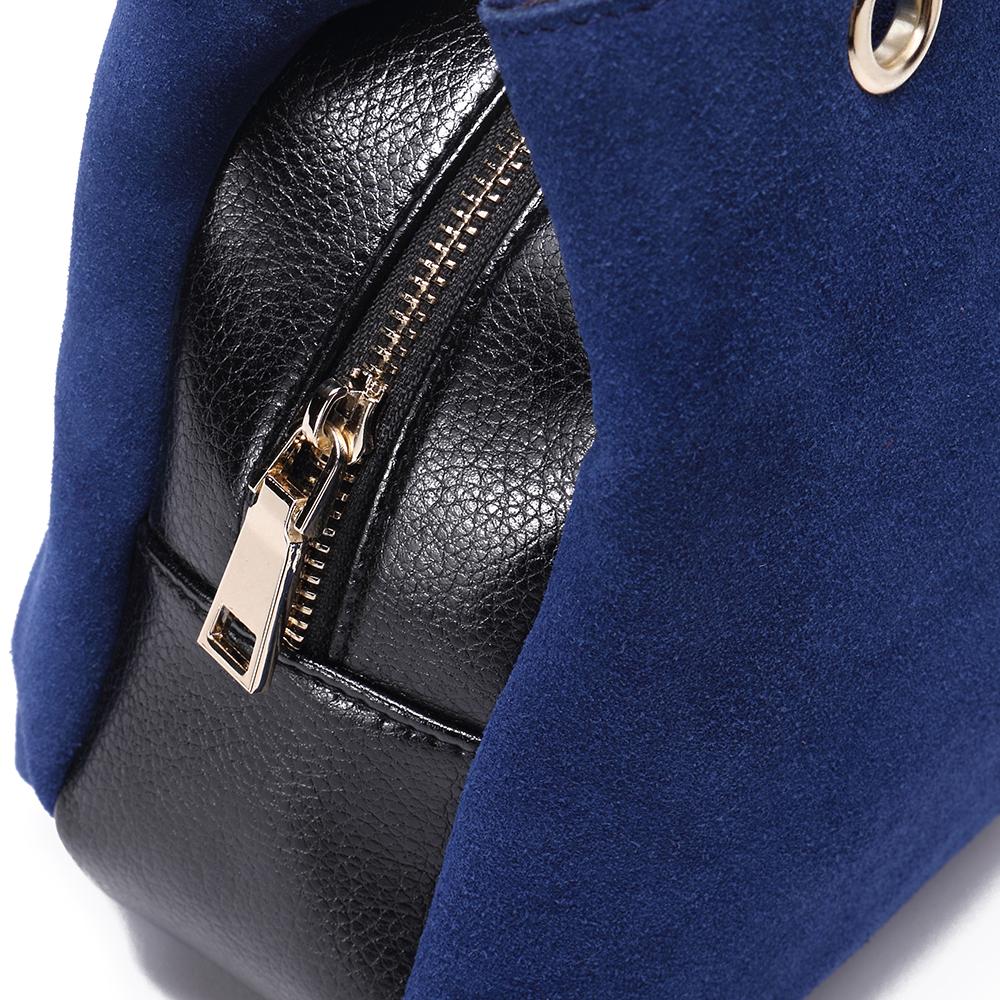 Bolso piel mujer - azul marino