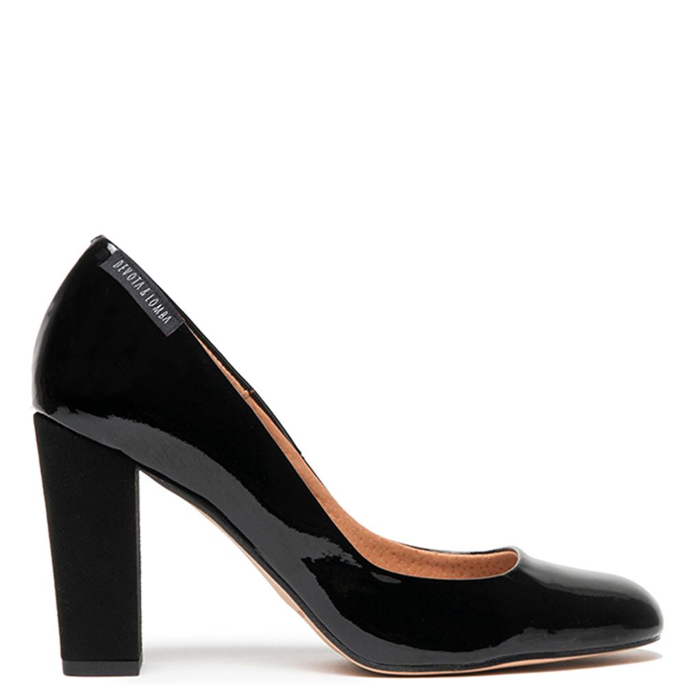 8cm Zapato de salón piel mujer - negro