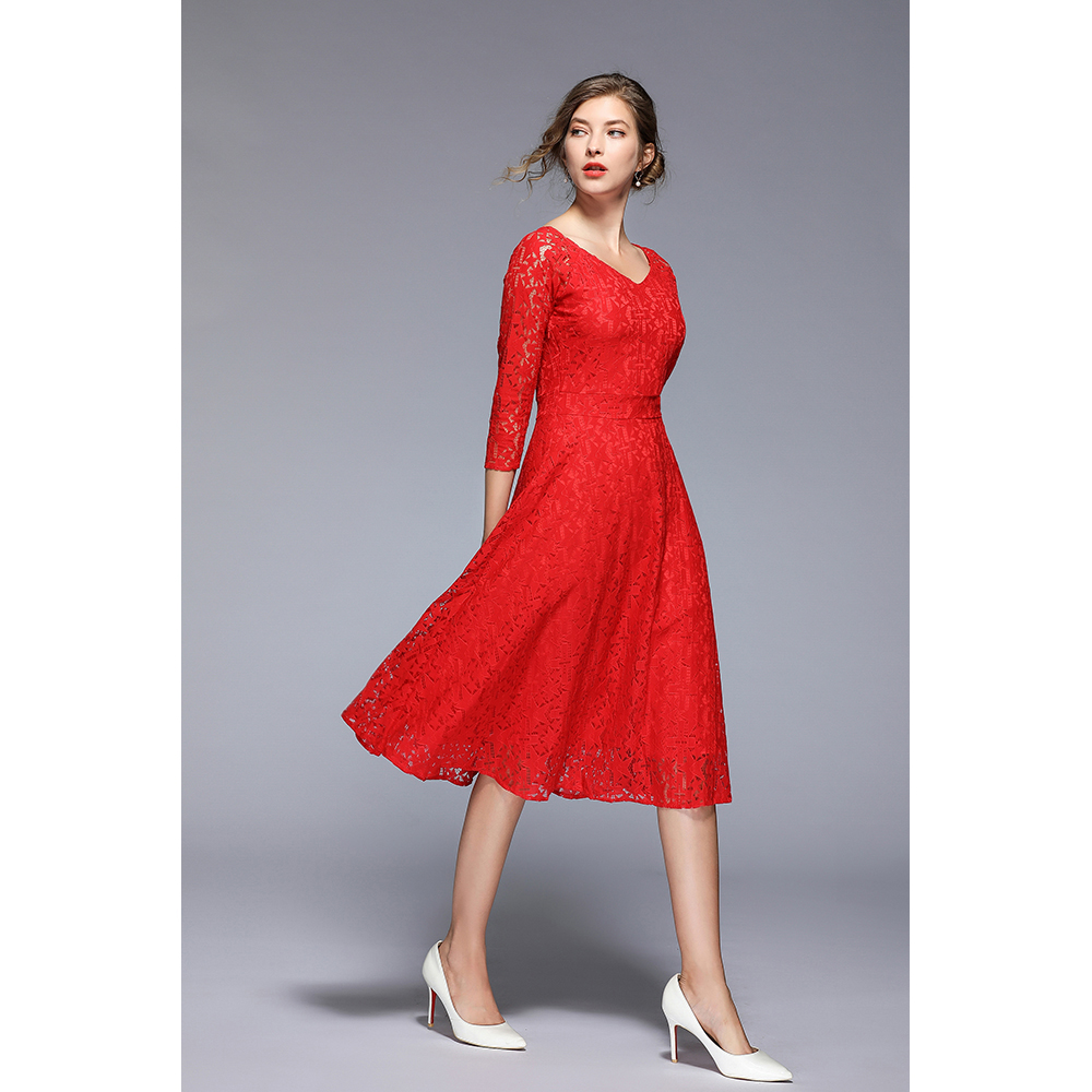 Vestido mujer - rojo