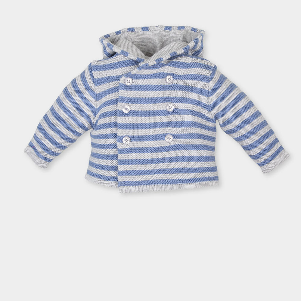 Chaqueta bebé niño - azul/blanco