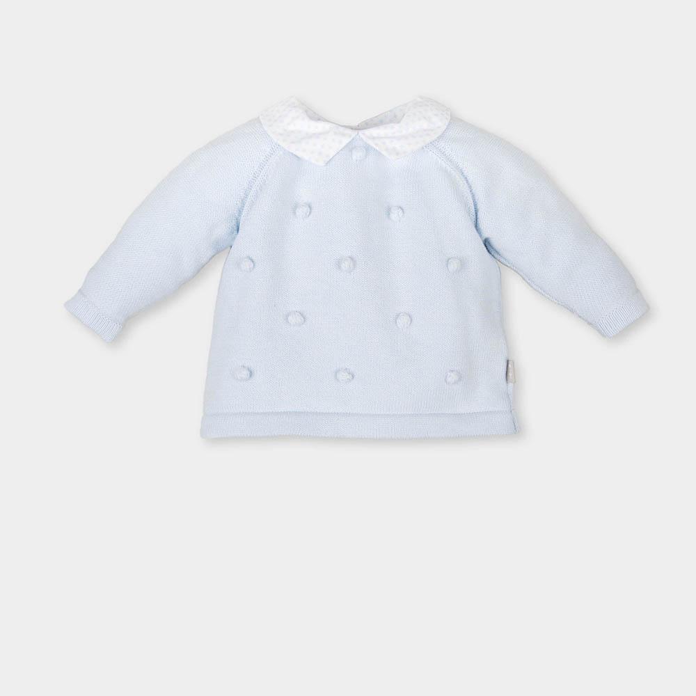 Jersey bebé niña - azul cielo