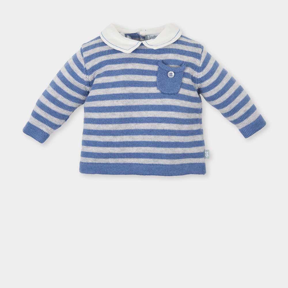 Jersey bebé niño - azul/blanco