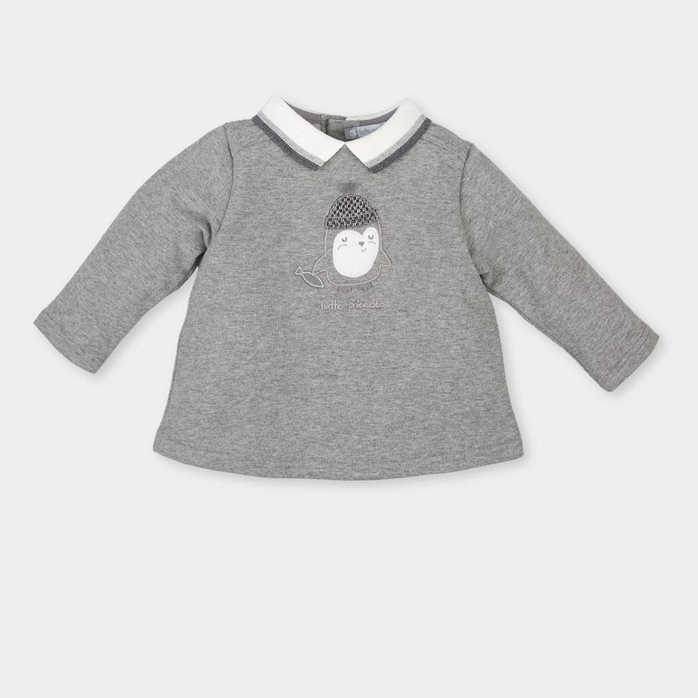 Jersey bebé niña - gris