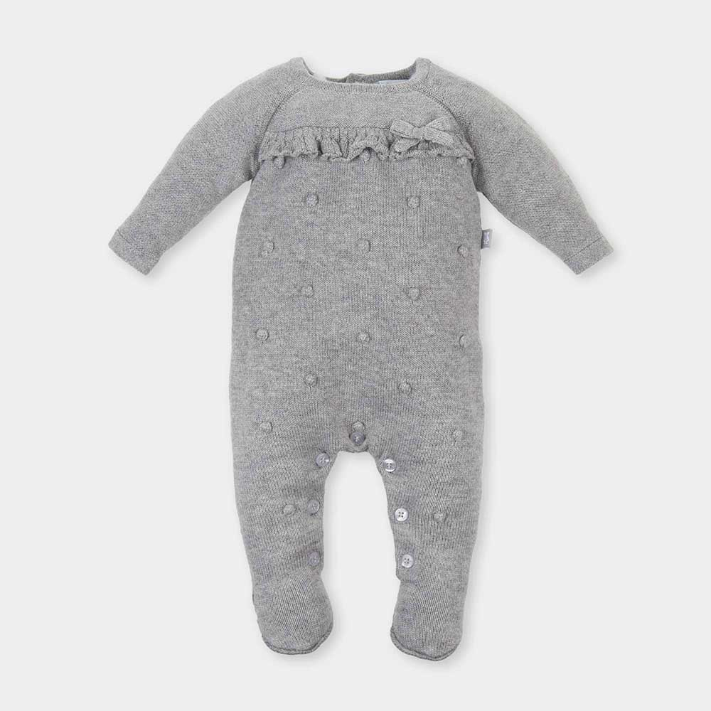 Pelele bebé niña - gris