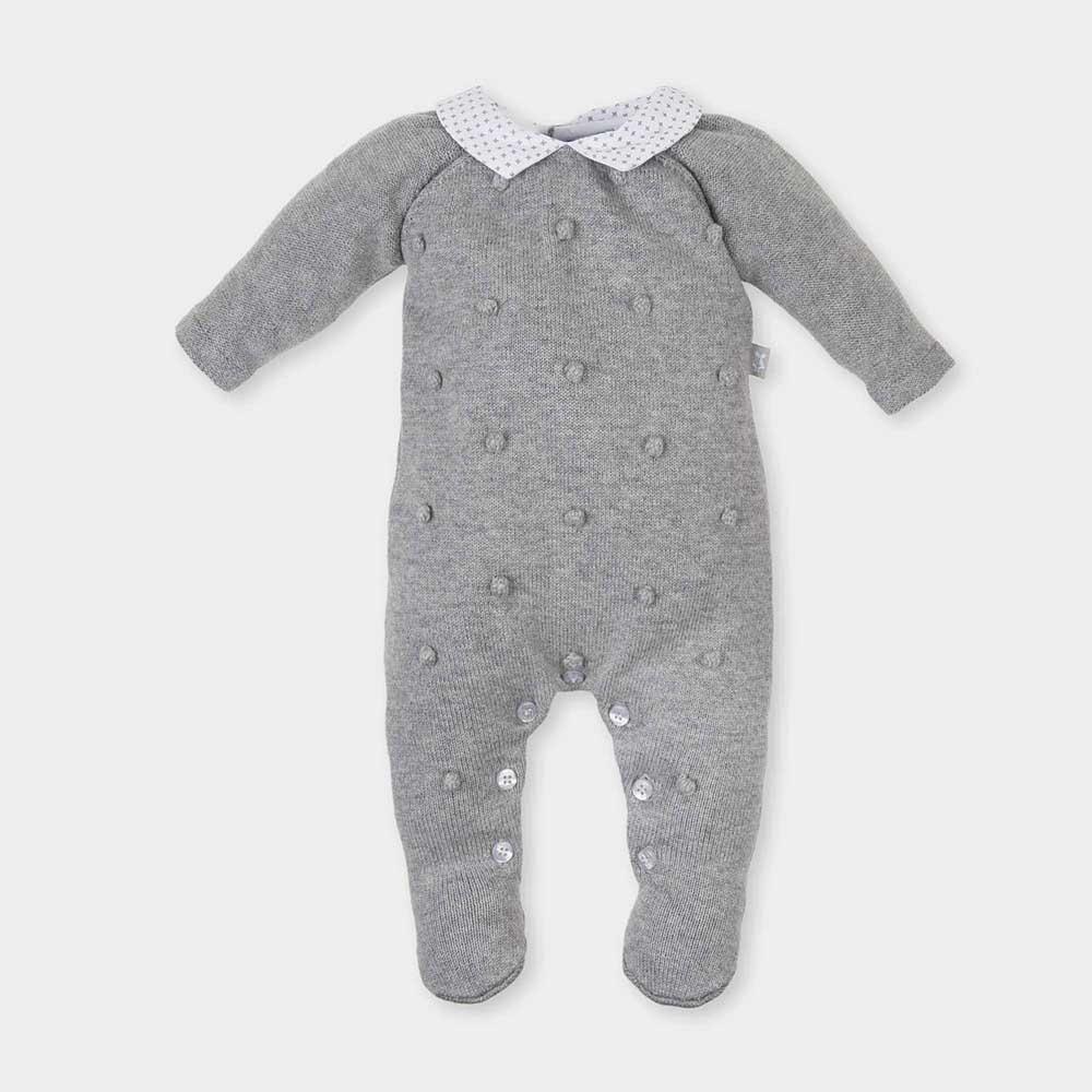 Pelele bebé niño - gris