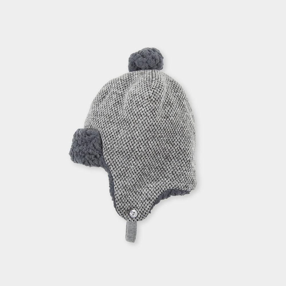 Gorro orejeras niño - gris