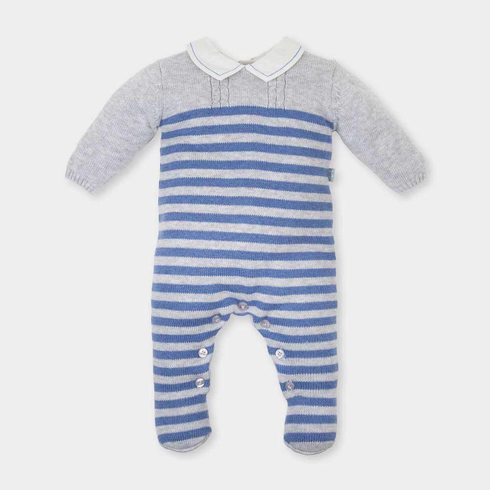 Pelele bebé niño - azul/gris