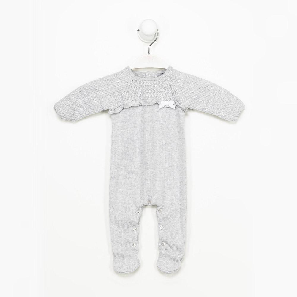 Pijama bebé niña - gris