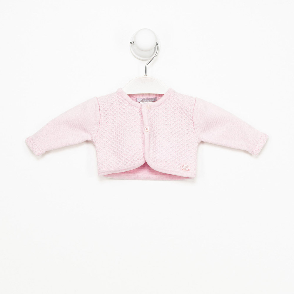 Chaqueta m/larga bebé niña - rosa