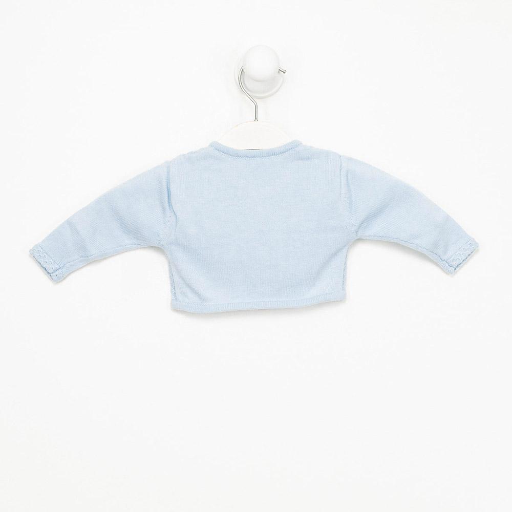 Chaqueta m/larga bebé niña - azul celeste