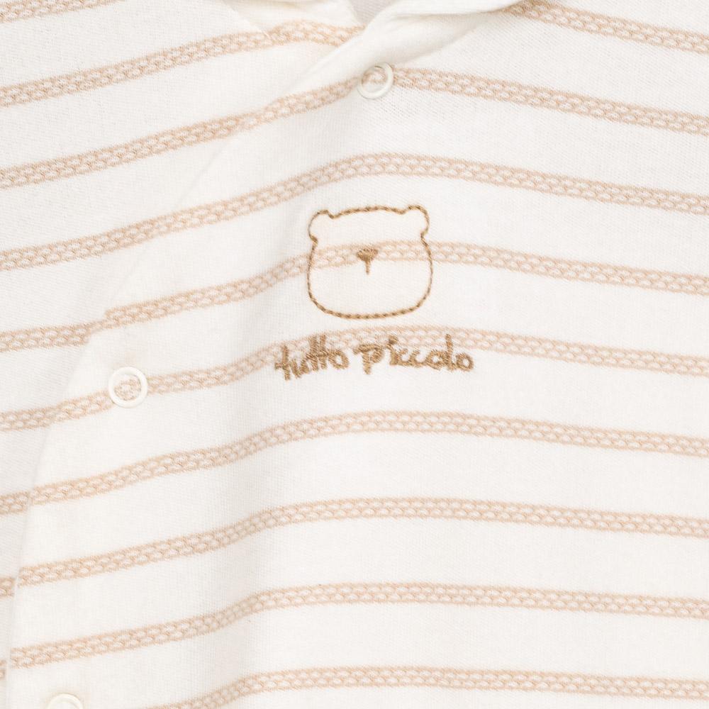 Pijama m/larga bebé niña - marrón/crudo