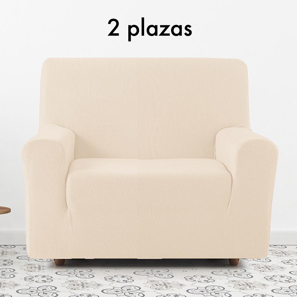 Funda de sofá elástica Dúo (2pl. + 3pl.) - beige