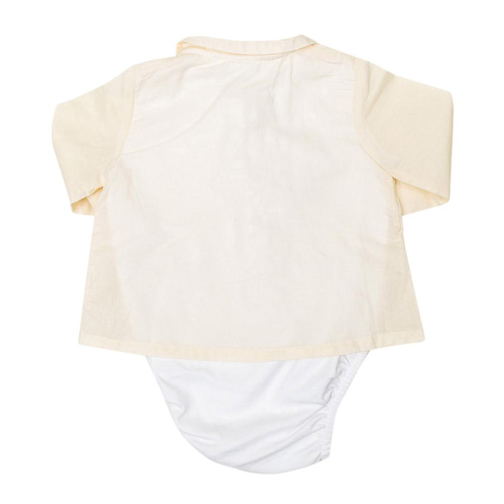 Body m/larga bebé - crudo