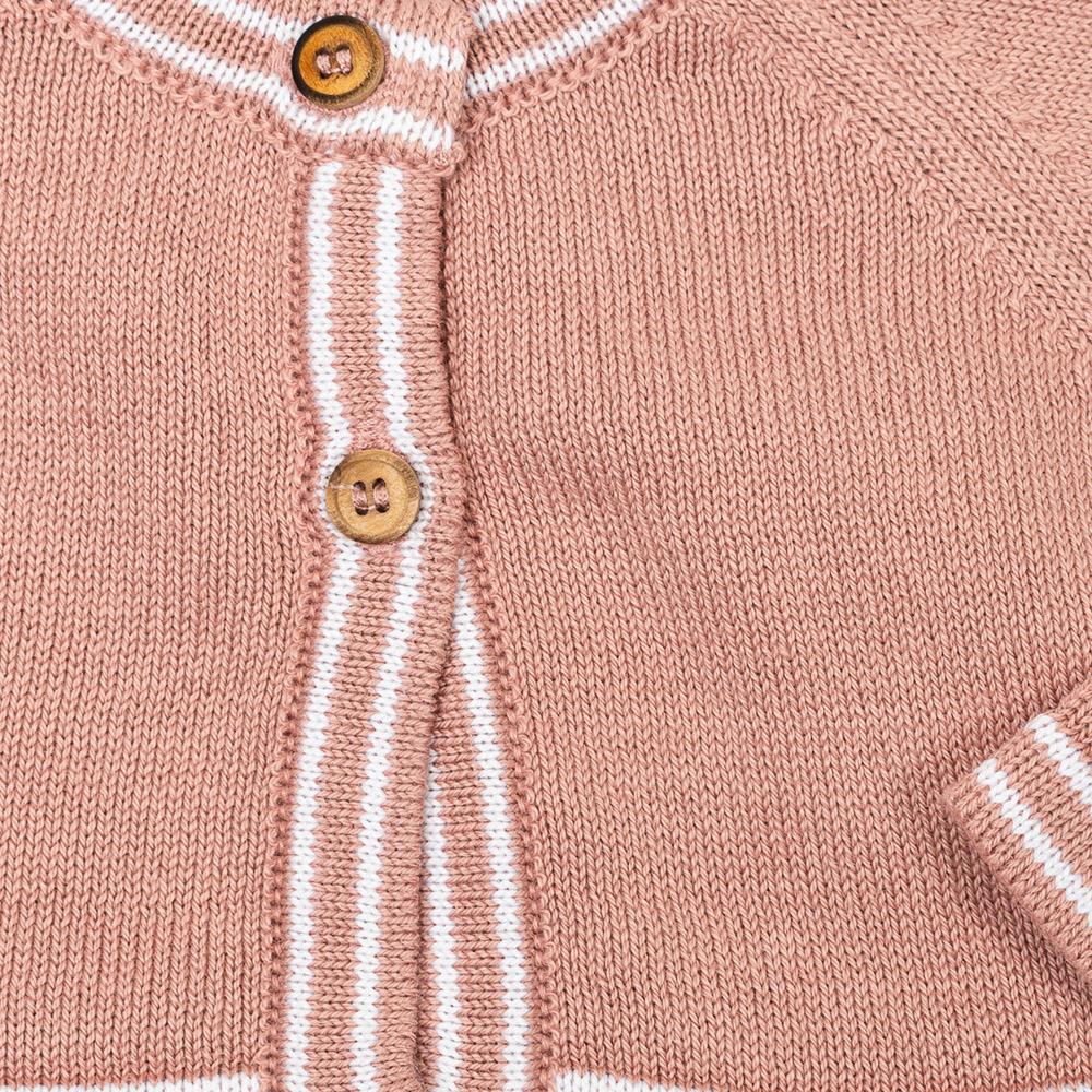 Bolero m/larga bebé - rosa palo