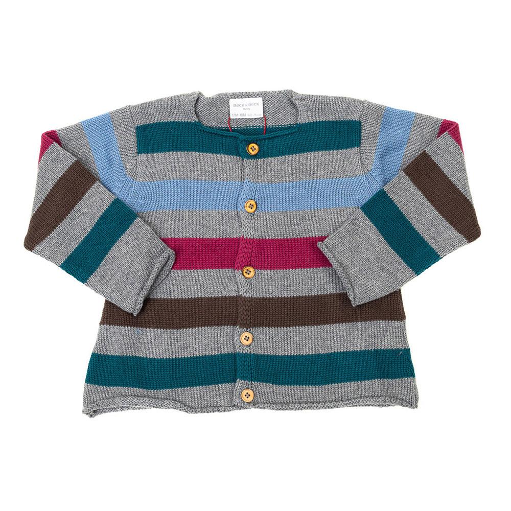 Chaqueta m/larga bebé - gris/multicolor