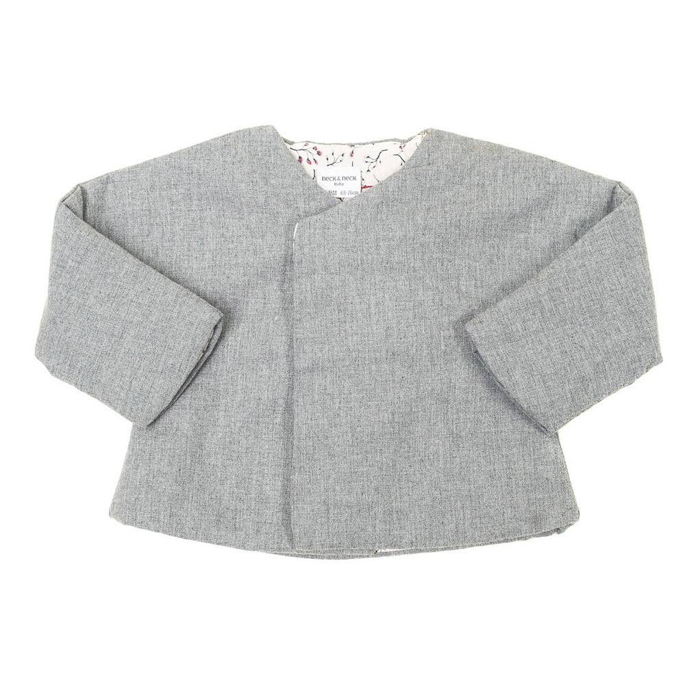 Chaqueta m/larga bebé - gris