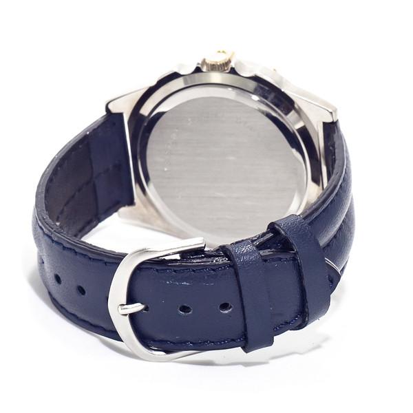 Reloj analógico piel unisex - azul