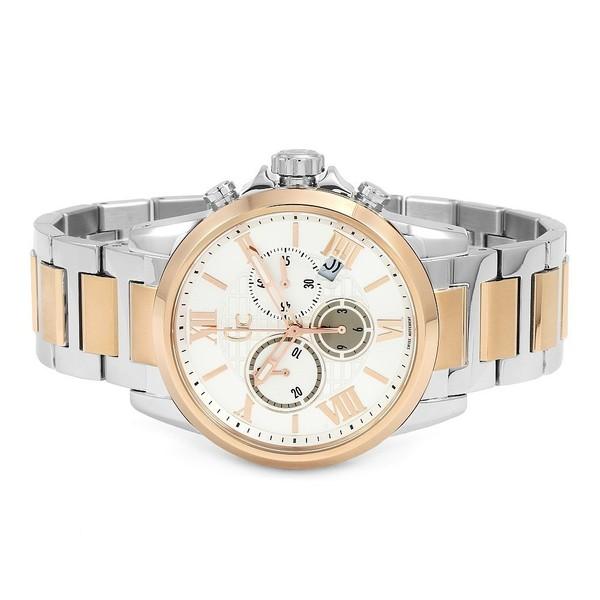 Reloj analógico acero hombre - plateado/rosado