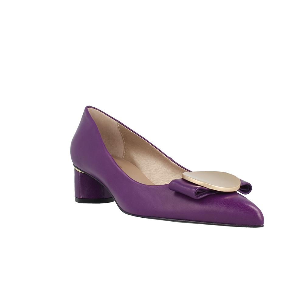 Zapato piel mujer - morado