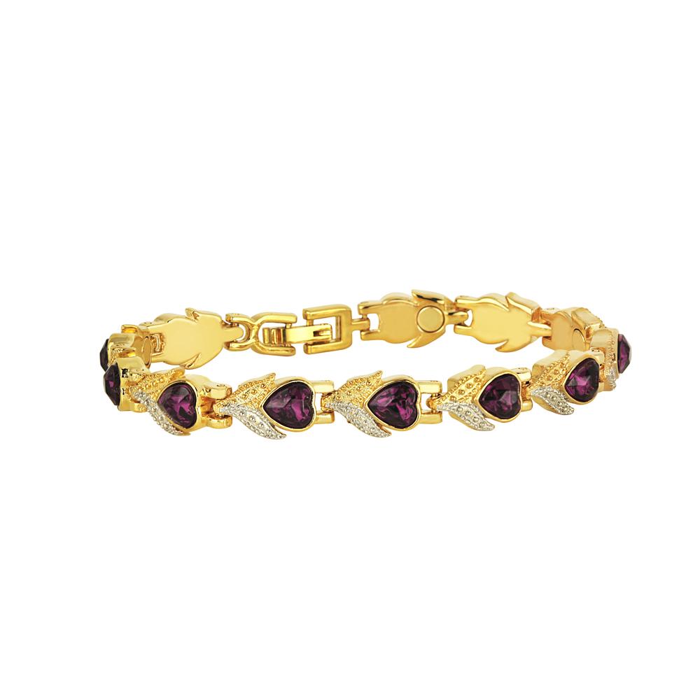 Pulsera bañado en oro - cristales swarovski