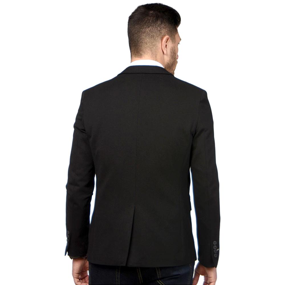 Blazer regular hombre - negro