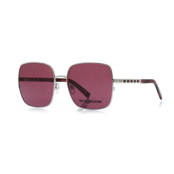 Gafas de sol metal mujer - burdeos