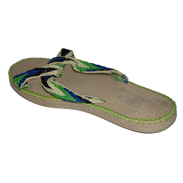 Sandalia flip flop Spar Trenzada mujer - verde