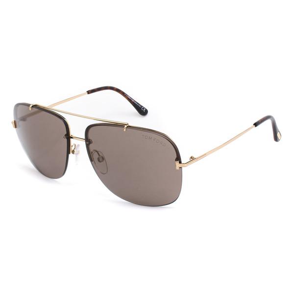 Gafas de sol metal hombre - dorado/havana