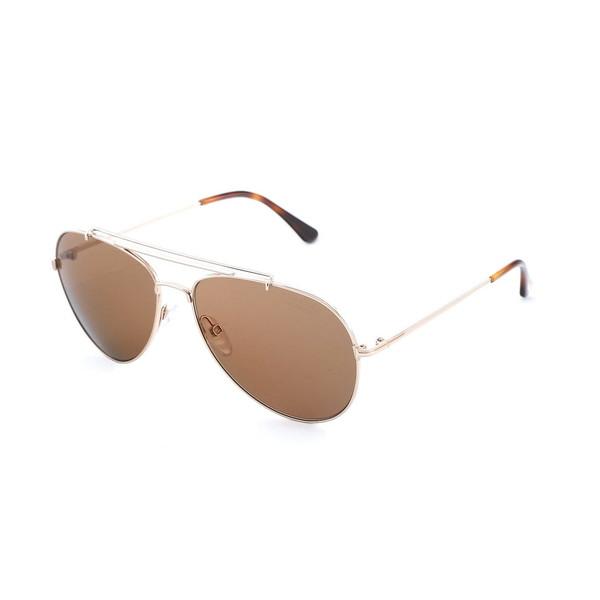 Gafas de sol metal hombre - dorado/marrón