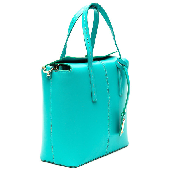 Bolso Handbag mujer piel - turquesa