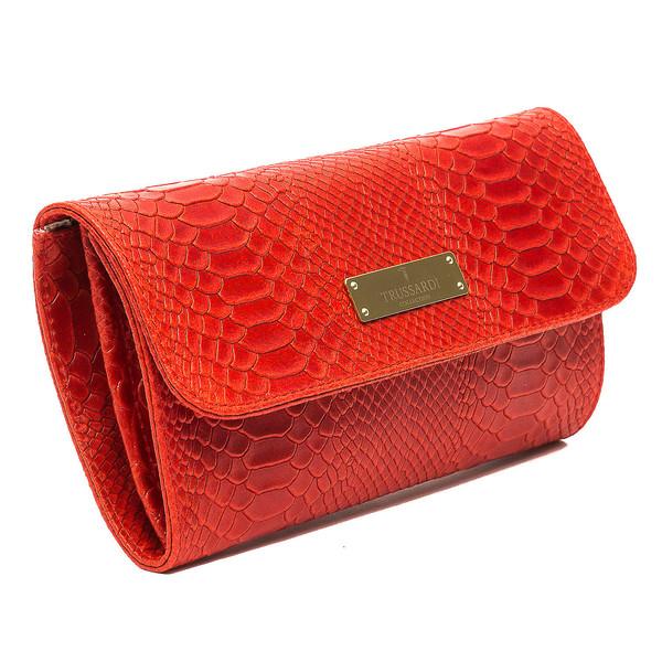 Bolso Clutch mujer piel - rojo