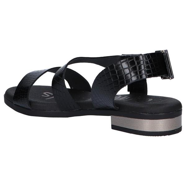 Sandalia mujer piel - negro