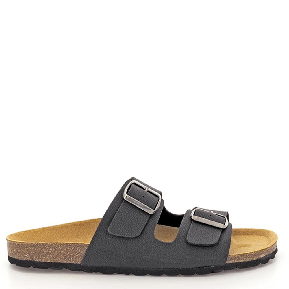 Sandalia piel vegana hombre - negro